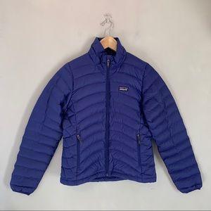 Patagonia Down Sweater Jacket- Blue Purple XS